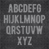 Μαύρο αλφάβητο eps 10 καγκέλων μετάλλων Στοκ Φωτογραφίες