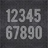 Μαύρο αλφάβητο eps 10 καγκέλων μετάλλων Στοκ εικόνες με δικαίωμα ελεύθερης χρήσης