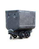 μαύρο βαγόνι εμπορευμάτων  Στοκ Εικόνες