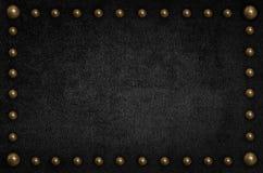 Μαύρο βελούδο με το κατώτατο σημείο μετάλλων, χρήση ως υπόβαθρο Στοκ Φωτογραφία
