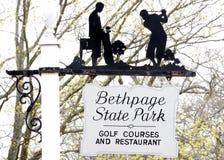 Μαύρο γήπεδο του γκολφ Bethpage στοκ εικόνες