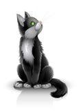 μαύρο γατάκι αρκετά ελεύθερη απεικόνιση δικαιώματος