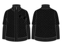 Μαύρο γεμισμένο σακάκι Στοκ Εικόνα