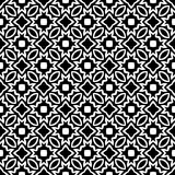 Μαύρο ΓΕΩΜΕΤΡΙΚΟ άνευ ραφής σχέδιο στο άσπρο υπόβαθρο Στοκ Φωτογραφία