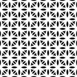 Μαύρο ΓΕΩΜΕΤΡΙΚΟ άνευ ραφής σχέδιο στο άσπρο υπόβαθρο Στοκ Εικόνα