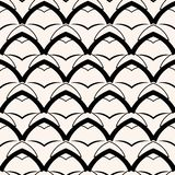 Μαύρο γεωμετρικό άνευ ραφής σχέδιο αψίδων Διανυσματική ανασκόπηση στοκ εικόνα με δικαίωμα ελεύθερης χρήσης