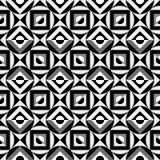 μαύρο γεωμετρικό λευκό προτύπων Στοκ φωτογραφία με δικαίωμα ελεύθερης χρήσης