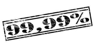μαύρο γραμματόσημο 99.99 τοις εκατό ελεύθερη απεικόνιση δικαιώματος