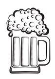 μαύρο γραφικό διάνυσμα μπύρ&alp Στοκ εικόνα με δικαίωμα ελεύθερης χρήσης