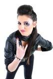 μαύρο δέρμα σακακιών κορι&tau Στοκ φωτογραφία με δικαίωμα ελεύθερης χρήσης