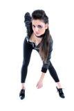 μαύρο δέρμα σακακιών κορι&tau Στοκ Εικόνα