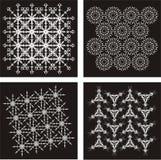 μαύρο διάνυσμα προτύπων 3 Στοκ Εικόνες