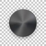 Μαύρο διακριτικό κύκλων μετάλλων με το διαφανές υπόβαθρο απεικόνιση αποθεμάτων