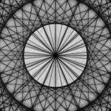 Μαύρο διανυσματικό fractal σχέδιο υποβάθρου Στοκ Εικόνες