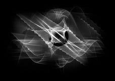 μαύρο διαστημικό λευκό αν& Στοκ Εικόνα