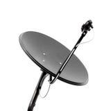 μαύρο δορυφορικό λευκό πιάτων Στοκ εικόνες με δικαίωμα ελεύθερης χρήσης