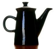 μαύρο δοχείο καφέ Στοκ εικόνα με δικαίωμα ελεύθερης χρήσης