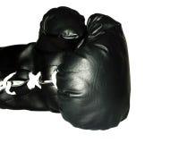 μαύρο εγκιβωτίζοντας γάντι Στοκ φωτογραφία με δικαίωμα ελεύθερης χρήσης