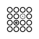 Μαύρο εικονίδιο γραμμών για διαφοροποιημένος, δυσκολίες και διαφορά διανυσματική απεικόνιση