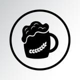 Μαύρο εικονίδιο μπύρας r ελεύθερη απεικόνιση δικαιώματος