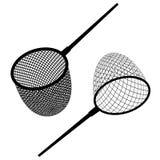 Μαύρο εικονίδιο διχτυού του ψαρέματος Στοκ Φωτογραφία
