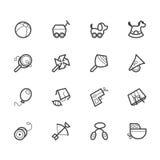 Μαύρο εικονίδιο παιχνιδιών μωρών που τίθεται στο άσπρο υπόβαθρο Στοκ Εικόνες