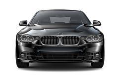 Μαύρο εκτελεστικό αυτοκίνητο - μπροστινή άποψη διανυσματική απεικόνιση