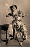 μαύρο εκλεκτής ποιότητας λευκό πορτρέτου εικόνας Στοκ Φωτογραφία