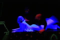 μαύρο ελαφρύ θέατρο στοκ φωτογραφίες με δικαίωμα ελεύθερης χρήσης