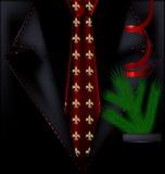 Μαύρο εορταστικό κοστούμι Στοκ Φωτογραφίες