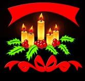 μαύρο εορταστικό fone κεριών Στοκ Εικόνα