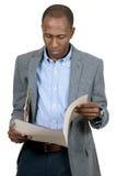 Μαύρο επιχειρησιακό άτομο Στοκ φωτογραφία με δικαίωμα ελεύθερης χρήσης