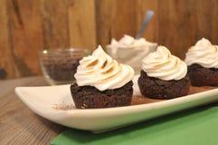 Μαύρο επιδόρπιο Brownies φασολιών στοκ φωτογραφία με δικαίωμα ελεύθερης χρήσης