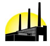 μαύρο εργοστάσιο Στοκ φωτογραφία με δικαίωμα ελεύθερης χρήσης