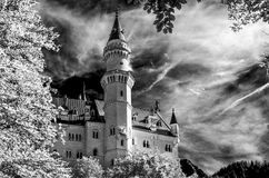 μαύρο λευκό αντανάκλασης κομματιού σκακιού κάστρων Στοκ εικόνα με δικαίωμα ελεύθερης χρήσης