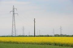 μαύρο λευκό ισχύος γραμμών έννοιας ηλεκτρικό Στοκ Εικόνες