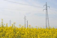 μαύρο λευκό ισχύος γραμμών έννοιας ηλεκτρικό Στοκ Φωτογραφία
