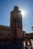 μαύρο λευκό μουσουλμανικών τεμενών του Μαρακές Μαρόκο Στοκ Εικόνες