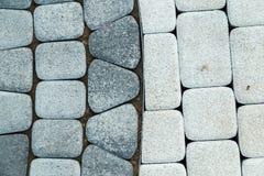 μαύρο λευκό πεζοδρομίων τεμαχίων Στοκ Εικόνες