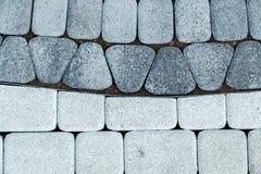 μαύρο λευκό πεζοδρομίων τεμαχίων Στοκ Φωτογραφίες
