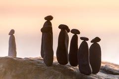μαύρο λευκό πετρών Στοκ φωτογραφία με δικαίωμα ελεύθερης χρήσης