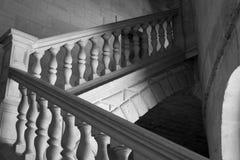 μαύρο λευκό σκαλών Στοκ εικόνες με δικαίωμα ελεύθερης χρήσης