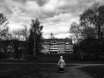 Μαύρο λευκό σύννεφων! Στοκ εικόνα με δικαίωμα ελεύθερης χρήσης