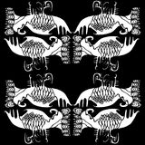 Μαύρο λευκό, Boho, φυλετικό υπόβαθρο Ελεύθερη απεικόνιση δικαιώματος