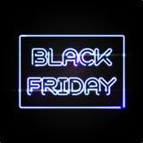 Μαύρο ελαφρύ πλαίσιο Παρασκευής Διανυσματικό σχέδιο διαφήμισης Στοκ Εικόνες