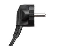 Μαύρο ηλεκτρικό βύσμα που απομονώνεται Στοκ Φωτογραφία