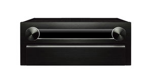 Μαύρο ηχητικό σύστημα Στοκ Εικόνα