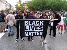 Μαύρο θέμα ζωών στη συνάθροιση κοντά στο Λευκό Οίκο στοκ εικόνα με δικαίωμα ελεύθερης χρήσης