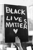 Μαύρο θέμα ζωών Στοκ φωτογραφία με δικαίωμα ελεύθερης χρήσης