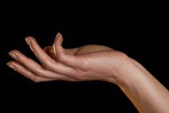 μαύρο θηλυκό χρυσό φως χε&r Στοκ εικόνες με δικαίωμα ελεύθερης χρήσης